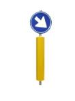 Verkeerszuil met verkeersbord: RVV-verkeersbord model D02ro_BB21